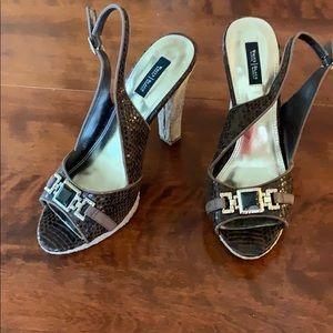WHBM peep toed pumps
